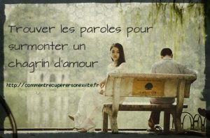 paroles chagrin d'amour